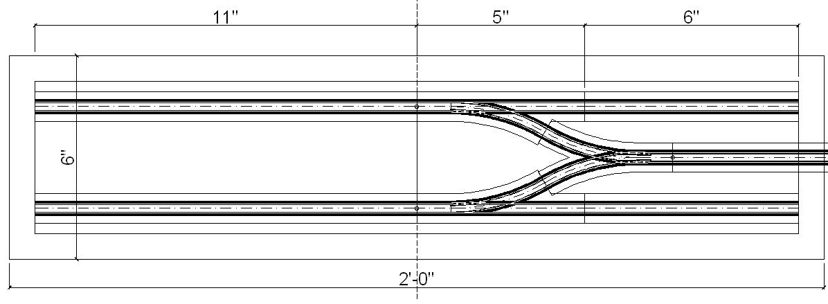 N scale tram track | Prince Street