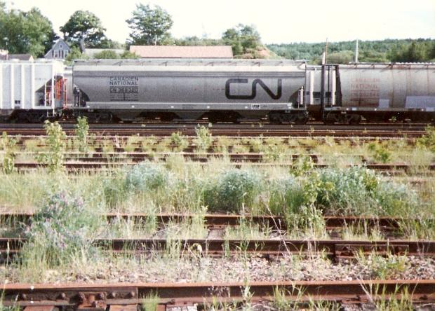 CN covered hopper at Truro, Nova Scotia.