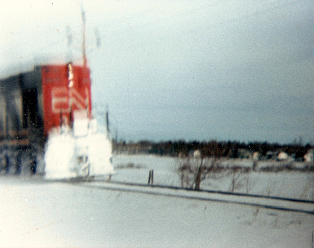 RSC14 at Charlottetown - Belvedere Road crossing in the winter